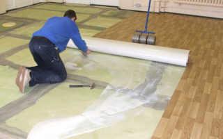 Как постелить линолеум на бетон