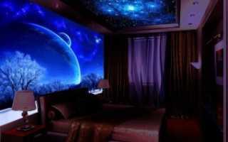 Светящийся потолок своими руками — фото, в квартире, монтаж