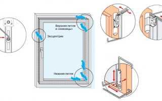 Как поднять раму пластикового окна