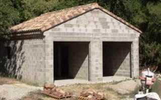 Как построить гараж из шлакоблока видео