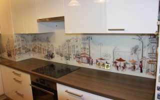Как приклеить кухонную панель