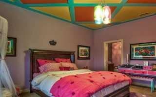 Потолок в детской комнате — выбор красивого и безопасного потолка