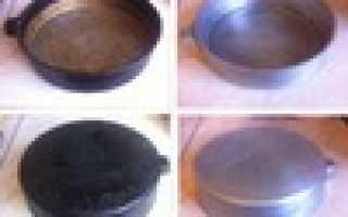Как отмыть орешницу от нагара