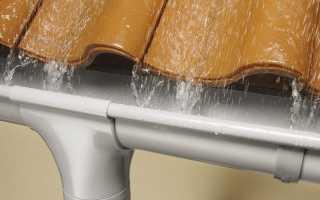 Как повесить водостоки на готовую крышу