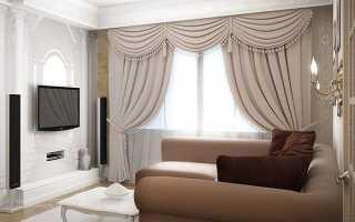 Как повесить шторы в гостиной фото