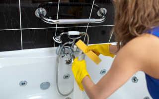 Как почистить кран уксусом