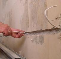 Как проложить проводку в бетонной стене