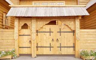 Как правильно сделать деревянные ворота